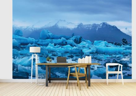 Photo wallpaper Floating blue Iceland